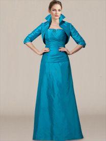 Elegant Mother of the Bride Dress_Marine Blue