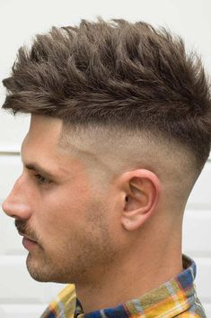 Skin Fade With Messy Textured Top #fadehaircut #baldfade #messytop ❤️ There are many types of fade haircut men can play around with. Anything from low to high, from comb over to with beard is at your disposal! ❤️ See more: http://lovehairstyles.com/bald-fade-men-haircut/ #lovehairstyles #hair #hairstyles #haircuts