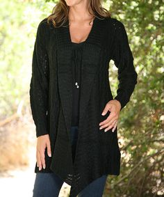 Another great find on #zulily! Black Sidetail Duster #zulilyfinds