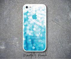 iPhone 5 Case, iPhone 5S Case - Aqua Glitter / iPhone 5S Case, iPhone 5S Cover, Cover for iPhone 5S, Case for iPhone 5S