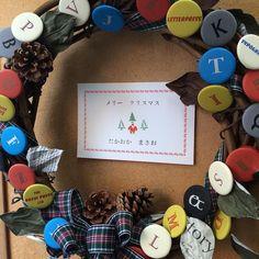 小学生ぐらいの時に印刷したクリスマスカードが出てきました美篶堂さんに頂いた活版缶バッチリースに囲まれてみなさまメリークリスマス# 高岡昌生 # クリスマスカード # 活版印刷 # 嘉瑞工房