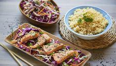 Ørret kombinert med en frisk, spicy og sunn thaisalat er oppskriften på en perfekt hverdagsmiddag. Fish Dinner, Pasta Salad, Ethnic Recipes, Dinners, Food, Cilantro, Crab Pasta Salad, Dinner Parties, Food Dinners