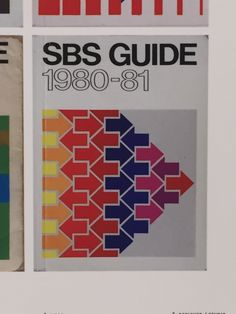 This show the SBS guide book cover from 1980-1981. Principle of Design: Rhythm, as the pattern (arrow shape) is repeated creating a rhythm in this picture.
