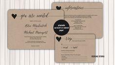 Wedding Invitation Printable Template  DIY Printable by redlinecs