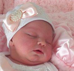 Newborn Girl Baby Hospital Hat Layette Newborn by NanaJustbananas