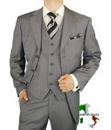 Two tone black and grey mens dress suits | ... Suit 100% Extra Fine Worsted Wool Super 150s 2 Button Jacket Plus