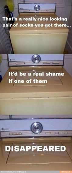 What a washing machine is thinking...