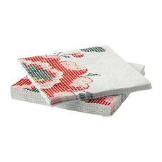 IKEA - INBJUDANDE, Papierové obrúsky, Papierové obrúsky sú vysoko absorpčné, pretože sú vyrobené z troch vrstiev papiera.