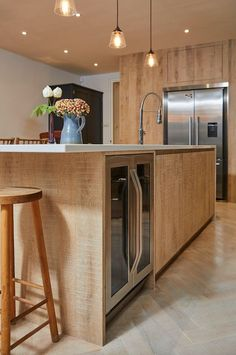 Bespoke kitchens by The Main Company. Handcrafted kitchens made from modern materials or reclaimed quality woods in their yorkshire workshops Shaker Style Cabinets, Shaker Style Kitchens, White Kitchen Cabinets, Cupboard Design, Kitchen Design, Patio Design, House Design, Reclaimed Kitchen, Solid Wood Kitchens