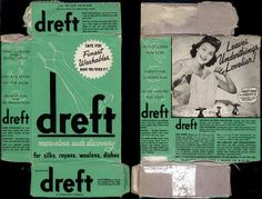 Proctor & Gamble - Dreft - marvelous suds discovery - detergent box - 1940's | Flickr - Photo Sharing!