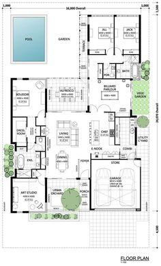♡♡♡♡Kragero - Residential Attitudes I love this design so much! ♡♡♡♡Kragero - Residential Attitudes I love this design so much! Just a couple of things I would tweek. Sims House Plans, Family House Plans, Best House Plans, Bedroom House Plans, Dream House Plans, Modern House Plans, Modern House Design, House Floor Plans, Dream Houses