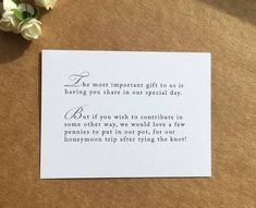 how to ask for money as a wedding gift - Google Search