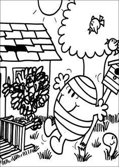 Mr. Men Tegninger til Farvelægning. Printbare Farvelægning for børn. Tegninger til udskriv og farve nº 16