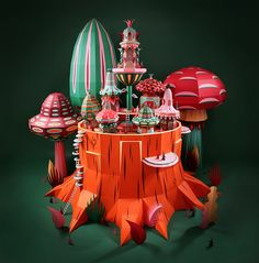 zim & zou crafts a paper woodland wonderland for Hermès windows in dubai