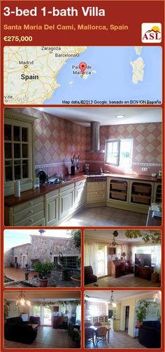3-bed 1-bath Villa in Santa Maria Del Cami, Mallorca, Spain ►€275,000 #PropertyForSaleInSpain