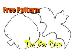 Free Pattern - Boo Crew Halloween Craft Kit | Two Kids Cooking and More