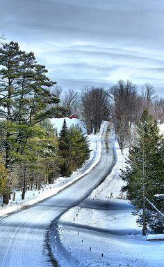 Winter landscape in Franklin, Vermont • photo: Deborah Benoit on FineArtAmerica
