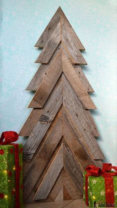 I love to add natural elements into my decor. Weathered wood like barn wood and old pallets add a unique look. You've seen the Christmas trees made from straigh…