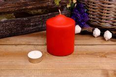 Κεριά Κυλινδρικά Κόκκινα Φ8x10εκ Pillar Candles, Taper Candles