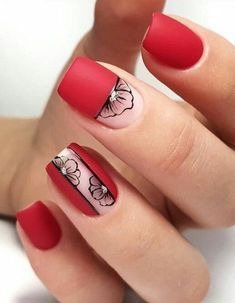 Nail art Christmas - the festive spirit on the nails. Over 70 creative ideas and tutorials - My Nails Square Nail Designs, Short Nail Designs, Fall Nail Designs, Short Square Nails, Short Nails, Pretty Nails, Cute Nails, Nail Polish, Trendy Nail Art