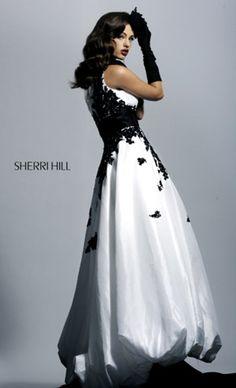 Black And White evening dress | sherri-hill-1007-black-and-white-prom-dress