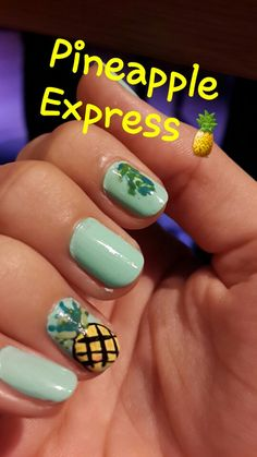 Pineapple Express #nailart #nail #stylebook #stylebookofelif #fashion #green #pineapple