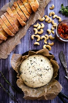 Herbed Cashew Cheese and Spicy Tomato Jam | vegan + gluten-free