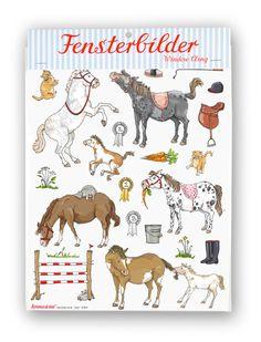 Krima & Isa - Fensterbilder Pony bei www.party-princess.de