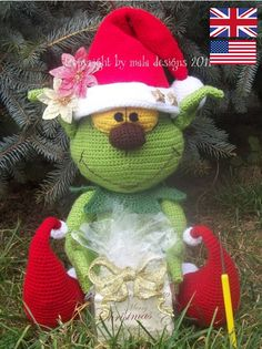 Handleiding haken - christmas elf - english crochet pattern - Een uniek product van Mala-Designs op DaWanda