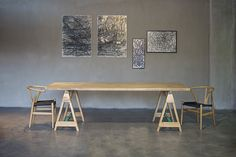 NOMAD  solid wood dining table by theDesignGroup_furniture ideas KALOTERAKIS S.A.,Greece