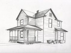 design a house in 2 point perspective | Drawing Class | Pinterest
