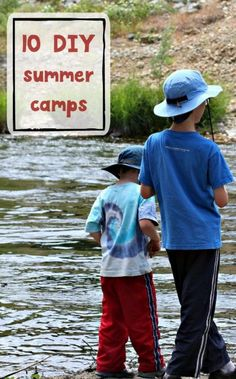 Summer camp at home for kids. Easy lesson plans and activities.