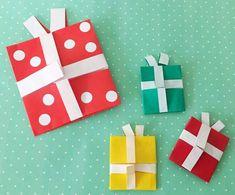 Christmas Crafts, Christmas Decorations, Xmas, Diy And Crafts, Paper Crafts, Paper Art, Origami, Gift Wrapping, Design
