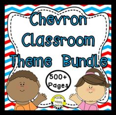 Classroom Decor Theme Bundle~ 500+ pages Dr. Seuss Theme or Red, White, and Blue Theme