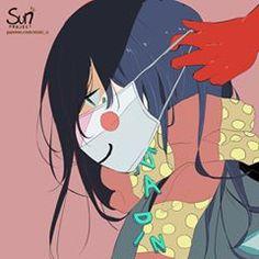 Dark Art Illustrations, Illustration Art, Sad Anime, Anime Art, Image Triste, Guerra Anime, Sun Projects, Dark Drawings, Vent Art