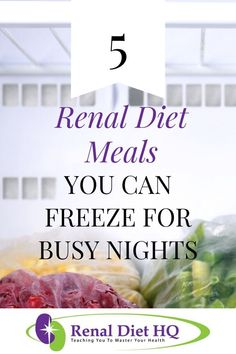 Looking for some renal diet freezer meals to help make life with chronic kidney disease (CKD) much easier? Check out these 5 renal diet meals that you can make ahead and freeze for busy nights! Grab these kidney friendly, renal diet dinner recipes Diet Dinner Recipes, Diet Recipes, Diet Meals, Flour Recipes, Health Recipes, Renal Diet Menu, Dialysis Diet, Dukan Diet, Kidney Recipes