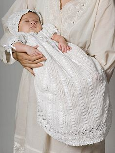 Ravelry: Heirloom Baby Set - Dress pattern by Michele Maks
