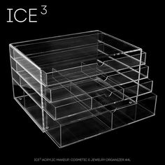 ICE3 CUBE Acrylic Makeup, Cosmetic & Jewelry Organizer #4L