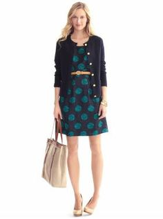 """I want that dresss!!! - Cute dress and great look, from Banana Republic Spring 2012 """"Outfits we love.""""  Dress $130."""