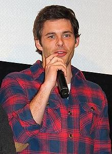 Oklahoman James Paul Marsden (born September 18, 1973 in Stillwater, OK.) is an American actor, singer and former Versace model. He is known for playing the superhero Cyclops in the first three X-Men films and for his roles in other commercially successful films such as Hop, Superman Returns, Hairspray, Enchanted, The Notebook, and 27 Dresses.