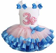 Tutu Satijn verjaardag cupcake + cijfer Rose Quartz Serenity