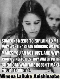 Clean water...
