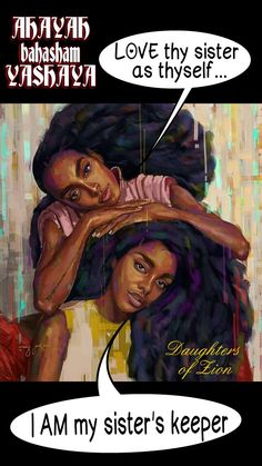 I AM My sister's keeper.... HEBREW women crown each other generation after generation... #DaughtersofSarah ... #DaughtersofZion .. Daughters of AHAYAH... #HebrewIsraelites spreading TRUTH... PRAISE the MOST High God #AHAYAH ( I AM, exodus 3:13-15) and #YASHAYA (MY SAVIOR, Matthew 1:21) CHRIST... GatheringofChrist.org GOCC on YouTube. JOIN YOUR SISTERS in the TRUTH