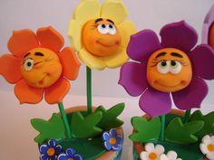 Веселенькие цветочки (лепка). Обсуждение на LiveInternet - Российский Сервис Онлайн-Дневников