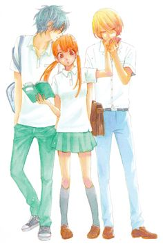 Tonari no Kaibutsu kun / My little monster. I love this anime and manga