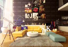Colorful Living Room Design Ideas-05-1 Kindesign