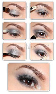 Grey Eyeshadow on Pinterest | Benefit Cosmetics Tutorial, Filipino ...