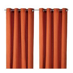 Pumpkin orange curtains-IKEA $19.99/pair