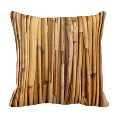 Bamboo Texture Throw Pillows