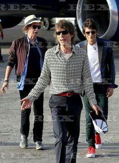 The Rolling Stones arrive in Havana, Cuba - 24 Mar 2016 The Rolling Stones - Keith Richards, Mick jagger and Ron Wood 24 Mar 2016